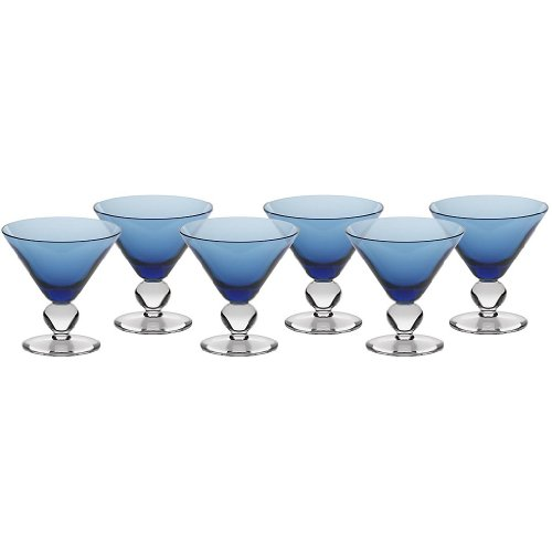 t Dessertschale Eisbecher Glas Cocktail Blau 11 cm Gelato Vero ()