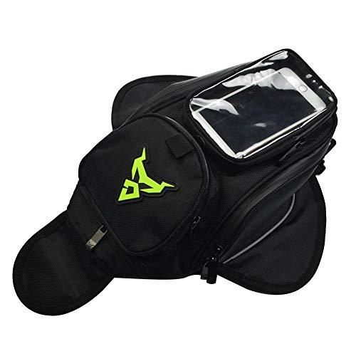 Chen0-super Tanktasche für Motorräder & Motorräder mit starkem magnetischem GPS-Reise-Satteltasche, wasserdicht, Oxford, klein, Green Label