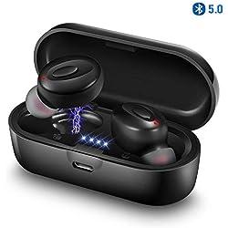 2019 Auricular Bluetooth inalámbrico,cancelación de Ruido, Mini Auricular Bluetooth Interno de 15 Horas para Android iOS #K25