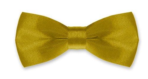 Autiga® Fliege Kinder Kinderfliege Hochzeit Konfirmation Schleife Schlips verstellbar Anzug Smoking gold