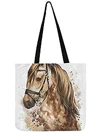 cded6ac2a0 Tête de cheval dessin toile fourre-tout sac à main sac à bandoulière sacs à  bandoulière sacs à main sacs à main pour…