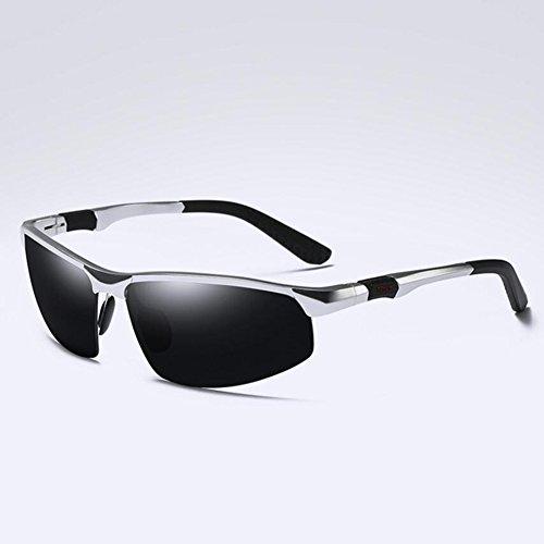 BYCSD Herren Sonnenbrille Silver/Dark Gray