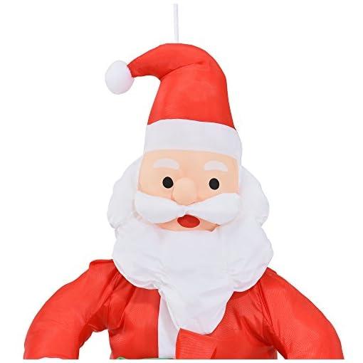Babbo Natale 90 Cm.Lux Pro Babbo Natale Appeso A Una Corda 90cm Decorazione Natalizia
