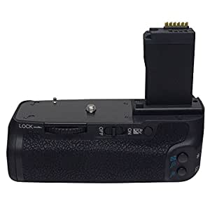 CameraPlus - Grip d'alimentation/Batterie grip (comme BG-E18) professionnell pour Canon 750D 760D Rebel T6i T6s Digital SLR Camera