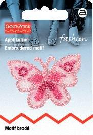 Motif br. papillon, petit format, rose organza