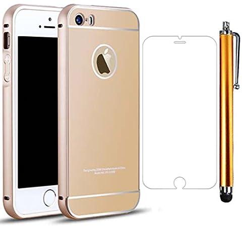 Batterie Gold Iphone 5s - Sunnycase® iPhone 5/5S Coque Etui Effet Métallisé