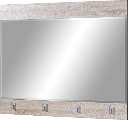 Germania Spiegel 3026-156 GW-Maxima, mit Kleiderhaken, in Sonoma-Eiche-Nb., 88 x 73 x 3 cm (BxHxT)