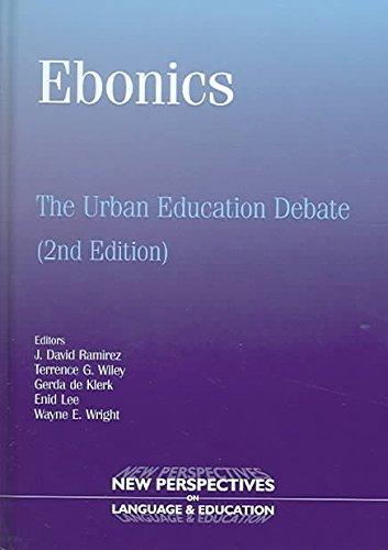 [Ebonics: The Urban Education Debate] (By: David Ramírez) [published: April, 2005]