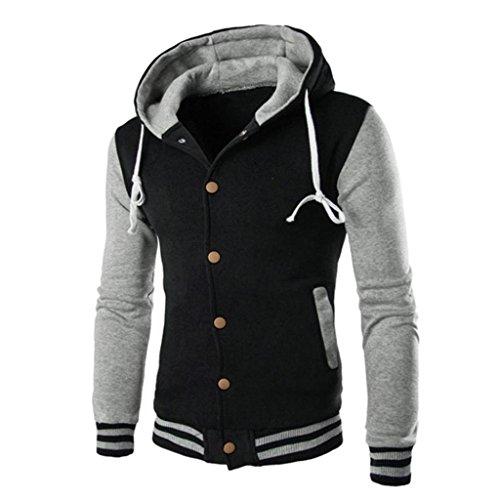 Kobay Herren Männer Mantel Jacke Outwear Pullover Winter Schlank Hoodie Warme Kapuzenpulli Mehrere Farben Herren Drei-viertel-länge-mantel
