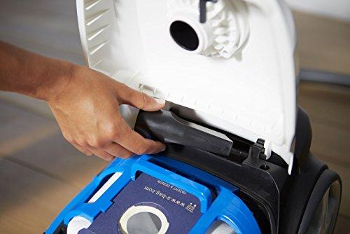 Philips fc8372/09PERFORMER Aspirateur Compact avec sac, triaktive Buse Plus Brosse sols durs a Classe d'efficacité énergétique A, gris