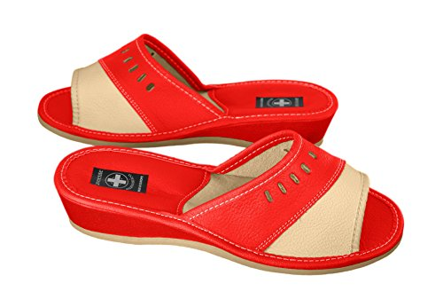 Original Women's Damen, Zehentrenner, Schuhe, orthopädische Insole. verschiedene Farben Orange & Black
