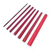 0Miaxudh Schleifstein, 6Pcs 3000Grit 2/3/4/6/8 / 10mm Schleifstein-Schleifstein-Öl-Stein-Messerschärfer-Werkzeug Red