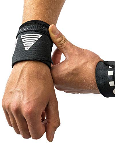 GORNATION Calisthenics Bandagen Handgelenke Stabilität für Street Workout Handgelenkbandagen Wrist Wraps Turner Turnen (Premium Black)