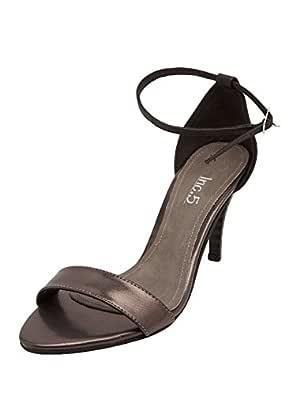 Ladies Synthetic Black Heels at Amazon