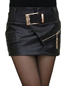 Falda mujer Faldas de cuero PU M