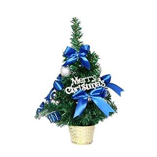 Pequeño árbol de Navidad decorado 30 cm de altura Oro/Rojo/Azul/Verde/Púrpura Mini mesa Centro de mesa Árbol de Navidad para la decoración de la oficina en el hogar