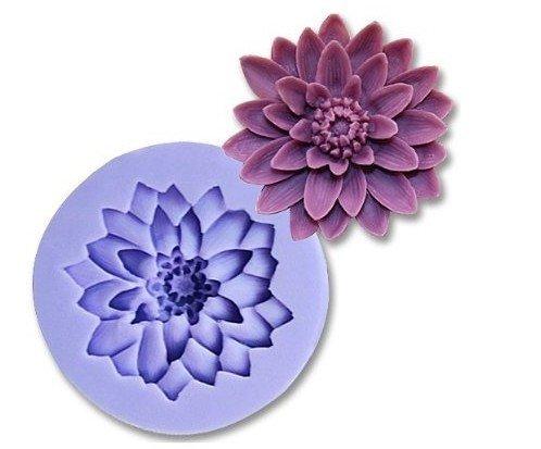 Allforhome Moule en silicone pour décorations de gâteaux en gumpaste Motif fleurs 5 cm