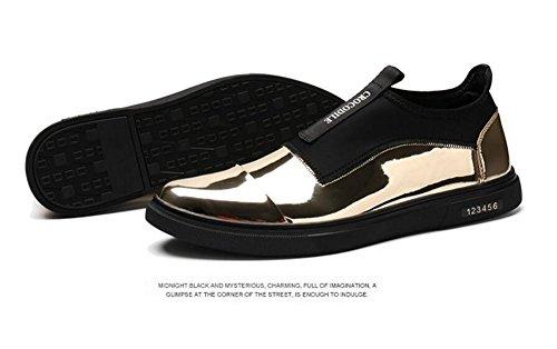 Scarpe Uomo Scarpe Uomo Scarpe Skateboard Scarpe Casual Scarpe In Pelle Di Pelle Di Trend Di Scarpe Di Piedi Gold