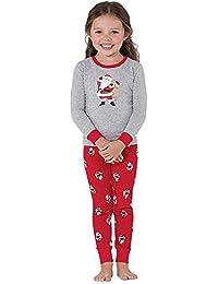 Familie Weihnachtsset Weihnachtsmann Tops Bluse Hosen Pyjama Nachtwäsche
