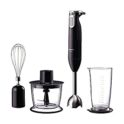 Panasonic MX-SS1 600-Watt Hand Blender with Chopper (Black)