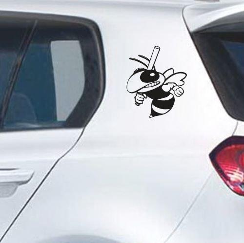eDesign24 Böse Biene Wespe Autoaufkleber Autosticker Aufkleber Sticker 2 Stk. im Set Erhältlich in mehr als 30 Farben 20 x 25 cm schwarz schwarz 20 x 25 cm