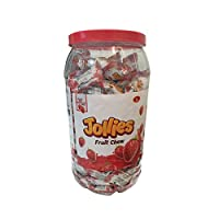 Inditradition Jollies Jelly Candies | Energy Rich Natural Fruit Bar, 1 Jar (200 Candies) 740g (Strawberry)