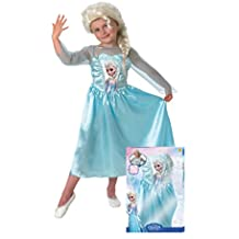 Frozen - Disfraz Elsa Classic con peluca, para niños, 3-4 años (Rubies 154984-S)