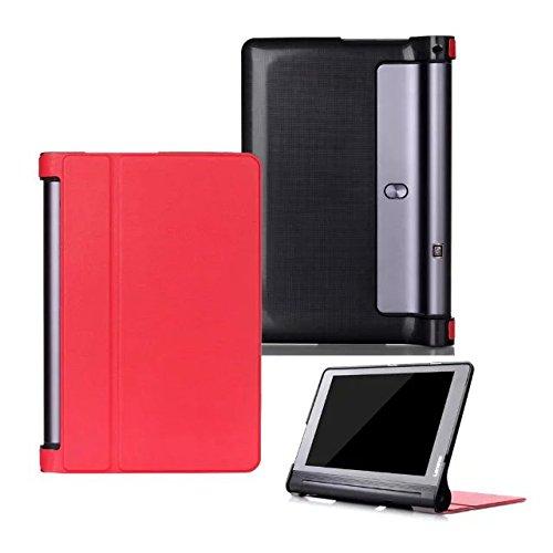 Kepuch Custer Lenovo Yoga Tab 3 Plus 10.1 YT-X703 Hülle - Shell Schutzhülle PU Tasche Smart Case Cover für Lenovo Yoga Tab 3 Pro 10.1 YT3-X90L YT3-X90F - Rot