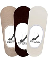 Supersox Men's Anti Slip No Show Socks / Loafer SocksPack of 3