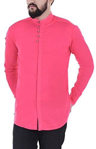 Vero Lie Men's Casual Shirt_VR-ST45-M_Pink_M