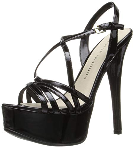 Chinese Laundry Women's Teaser Platform Dress Sandal, Black Patent, 7 M US Patent Dress Sandal