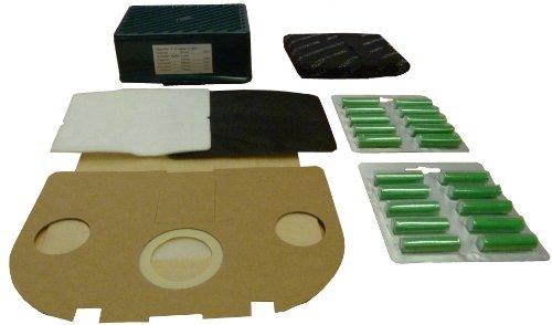 Mister vac A909 20 Staubbeutel geeignet für Vorwerk Tiger 250/251 / 252, 20 Duftstäbchen grün ein Hepa Filter plus Aktivkohle