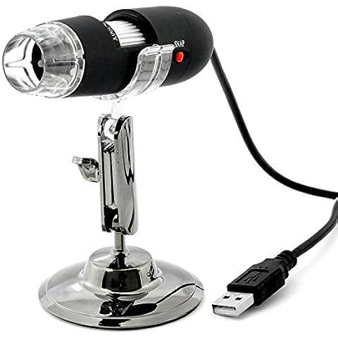 USB microscopio Digital–200x zoom, 640x 480resolución, 8LEDs–envío desde China/Hong