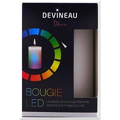 Devineau 1601107vela LED variación de luz parafina multicolor 7x 7x 10cm