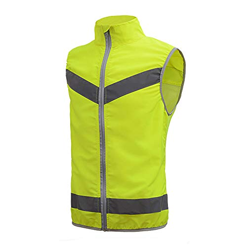 HAIT Sommer Reflektierende Fahrradanzug Weste Sicherheitsweste Verkehrsstörung Nachts Reisen Fluoreszierende Kleiderjacke,XL