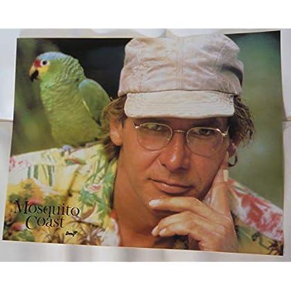 10 photos couleurs + dossier de presse de 32 pages de Mosquito Coast (1987), film de Peter Weir avec Harrison Ford - État neuf.