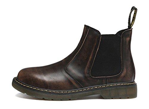 Honeystore Unisex-Erwachsene Bootsschuhe Derby Stiefeletten Kurzschaft Stiefel Winter Boots für Herren Damen Braun 39 CN