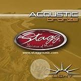 Stagg AC-1254-BR Jeu de cordes pour Guitare acoustique Light (12-16-25-34-42-54)
