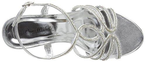 Spot On Tbar Slingback Diamante 'Wedding', Sandales femme Argent - Argenté