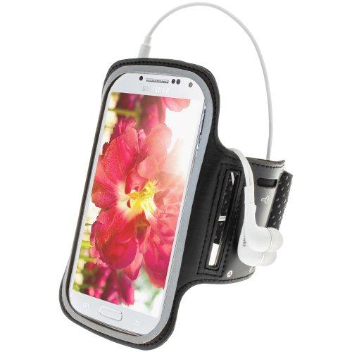 igadgitz U2308 Anti-Rutsch Neopren Sports Armband Oberarmtasche für Samsung Galaxy S4 IV I9500 & S4 Active I9295 - Schwarz - Galaxy Fall 4 Max S4