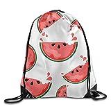 DSGFSQ Sporttaschen Turnbeutel Watermelon Pulling-knapsack Backpack Sport Gym Sack Drawstring...