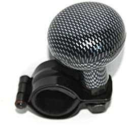 XtremeAuto® CARBON FIBRE EFFECT, Universal Steering Wheel/Brodie Knob For Car, Van, Truck, Tractor, Boat etc.