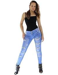 Jeasn Pantalones Mujer Ripped Super Pus up jeans Skinny Jeans Slim Denim Distressed Pants