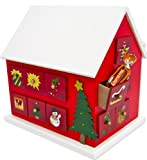 Christmas Classic Wooden Advent Calendar House with Numbered drawers by HDIUK