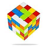 Buself Zauberwürfel 4x4 - Original Speed Cube - Stickerloser Würfel mit optimierten Dreheigenschaften (4x4 Ohne Sticker)
