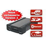 XCarLink 2 USB SD AUX MP3 Wechsler KFZ Auto Radio Music Interface Adapter für BMW (FLACHE PINS) mit Textanzeige für 3er Serie (E46), 5er Serie (E39), X3 (E83), X5 (E53), Z4 (E85) & Mini Cooper - PLUG & PLAY Version