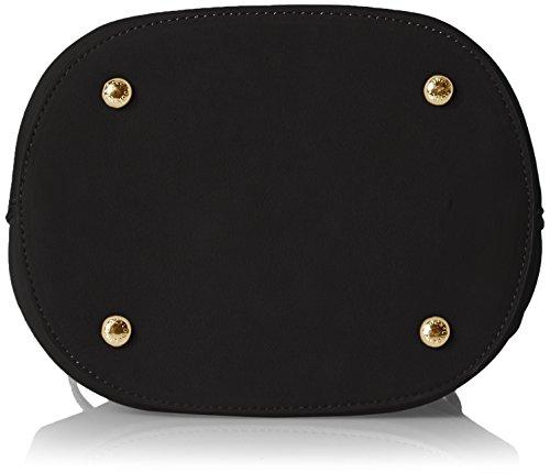 LYDC London Damen G1728 Umhängetasche, 16x21.5x20 cm Schwarz (Black)