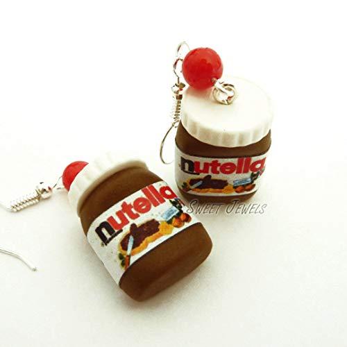 Orecchini Nutella in Fimo