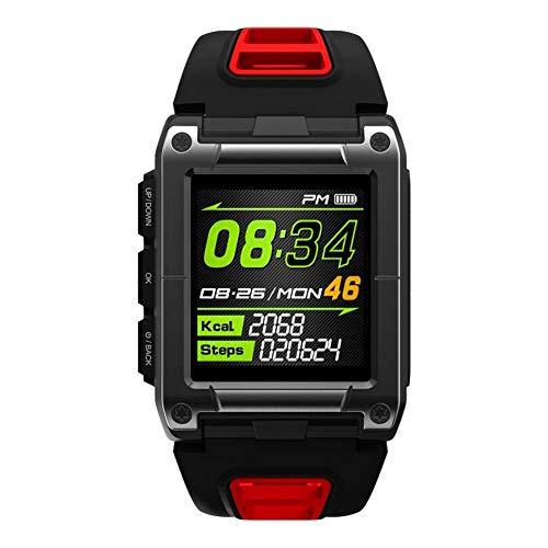 Intelligente Uhr Farbbildschirm GPS Laufen Bergsteigen Radfahren Ball Sport Fitness Kompass Gesundheitsüberwachung@Rot