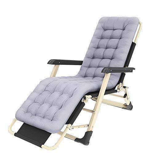Home outdoor / Terrasse Liege Außen Reclining Zero Gravity Chair Adjustable Lounger Chair for Patio Garden Beach Pool, Unterstützung 200kg mit Kissen Stuhl Klappbett Einzel Siesta Bett Leichte Camping -